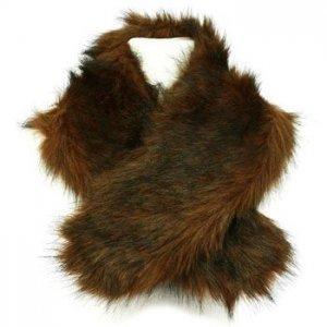 San Diego Hat Co Warm Faux Fake Fur Neck warmer Wrap Scarf Stole Shawl Brown