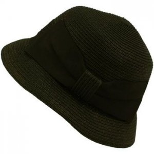 Ladies UPF 50 Beach Summer Sun Cloche Bell Bucket Big Ribbon Bow Hat 57cm Black