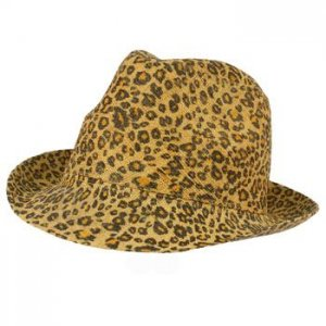 Raffia Light Summer Spring Leopard Animal Print Fedora Trilby Sun Hat Cap 57cm