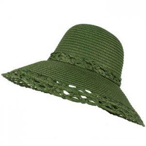 Wide Large Flip Up Down Brim Wok Style Beach Summer Bucket Floppy Sun Hat Olive
