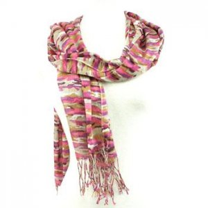 Colorful Camo Summer Light Scarf Shawl Wrap Pink Purple