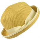 3 in 1 Flip Up Flip Down Beach Summer Bucket Cloche Fedora Packable Hat Natural