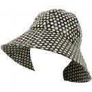 Rain Waterproof Summer Spring Travel Cloche Bucket Wide Sun Hat Cap 57cm Black