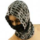 10 in 1 Light Cut Out Summer Cool Scarf Neckwrap Headband Mask Balaclava Gray