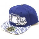 100% Cotton Los Angeles Zubaz Snapback Adjustable Baseball Cap Hat Blue White