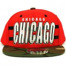 Cotton Chicago Camouflage Snapback Adjustable Baseball Ball Cap Hat Red Camo