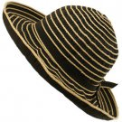 UPF 50 Sun Beach Shape Hat Upturn Floppy Packable Black