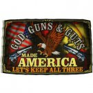 USA Flag God Guns Guts Made America Keep All Three Big Flag Pole Flag 3'x 5'