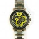 Mens Oversized Chunky Sporty Metal Clasp Bracelet Wrist Watch Watches Yellow