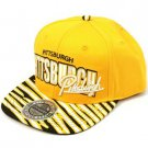 100% Cotton Pittsburgh Zubaz Snapback Adjustable Baseball Cap Hat Yellow Gold