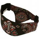 Unisex Choptop Cross & Paisley Bandana Headwrap Headscarf  Adjustable Black Red