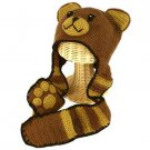 Kid 3-6 San Diego Hat Co Knit Bear Trooper Hat Cap with Scarf with Mitten Gloves