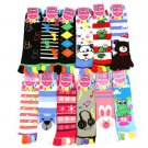 Ladies Warm Toe Socks 12 Pairs Animal Face Mix Crew Ladies Mid Calf Pack Set