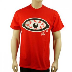 100% Cotton Men's Blood Shot Eye Graphic Bold Tee Shirt T Shirt  Red S Chest 34""