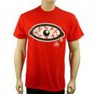 100% Cotton Mens Blood Shot Eye Graphic Bold Tee Shirt T Shirt  Red XL Chest 48""