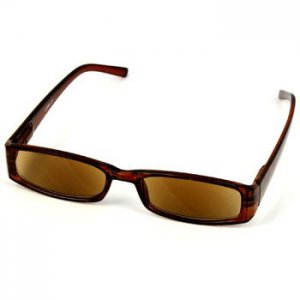 Classy Rectangular Light Tint Lens Prescription Reading Sunglasses Brown +2.75