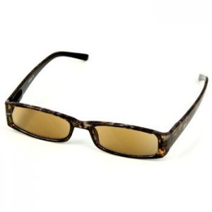 Classy Rectangular Tinted Lens Prescription Reading Sunglasses Camouflage +1.50