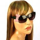 3D Ribbon Bow Smoke Lens Spring Hinges Cute Sunglasses Glasses Shades Black Pink