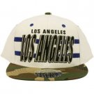 Cotton Los Angeles Camouflage Snapback Adjustable Baseball Ball Cap Hat White