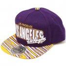 100% Cotton Los Angeles Zubaz Snapback Adjustable Baseball Cap Hat Purple Gold