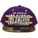 Cotton Los Angeles Camouflage Snapback Adjustable Baseball Ball Cap Hat Purple