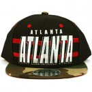Cotton Atlanta Camouflage Snapback Adjustable Baseball Ball Cap Hat Black Red