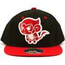 Men's Cartoon Monkey 2 Tone Snapback Adjustable Baseball Ball Cap Hat Black Red