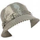 Rain Waterproof Summer Spring Travel Bucket Sun Hat Cap Adjustable 57cm Stripe