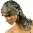 10 in 1 Light Fringe Summer Cool Scarf Neckwrap Headband Mask Balaclava Gray