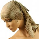 10 in 1 Light Fringe Summer Cool Scarf Neckwrap Headband Mask Balaclava Beige