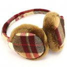 Winter Ski Fuzzy Earmuff Ear Warmer Adjustable Brown