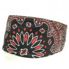 UNISEX CHOPTOP BANDANA HEAD DU WRAP SCARF HEADBAND BIKER ROCKER BLACK RED