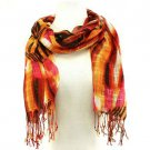 Colorful Zebra Print Summer Light Scarf Wrap Orange