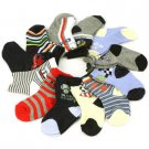 12 Pairs Assorted Baby Boys Newborn Infant 9-12+ month Size 3-4 Mid Crew Socks