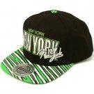 100% Cotton New York Zubaz Snapback Adjustable Baseball Ball Cap Hat Black Green