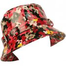 Rain Waterproof Summer Spring Travel Bucket Sun Hat Cap Adjustable 57cm Retro