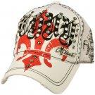 Fleur De Lis Cotton Summer Mesh Trucker Adjustable Back Baseball Cap Hat White