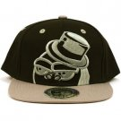 Men's Cool Gorilla 2 Tone Snapback Adjustable Baseball Ball Cap Hat Black Gray