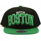 Men's Boston 2 Tone Snapback Adjustable Summer Baseball Ball Cap Hat Black Green