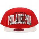 Men's Philadelphia 2 Tone Snapback Adjustable Baseball Ball Cap Hat Red White