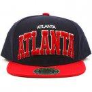 Men's Atlanta 2 Tone Cool Snapback Adjustable Baseball Ball Cap Hat Navy Red