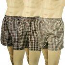 Men's 3pk Plaid Boxer Brief Underwear Comfort Waistband Assorted #8  XL 42-44
