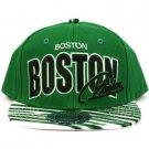 100% Cotton Boston Zubaz Snapback Adjustable Baseball Ball Cap Hat Green Black