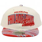 100% Cotton Philadelphia Zubaz Snapback Adjustable Baseball Cap Hat White Red