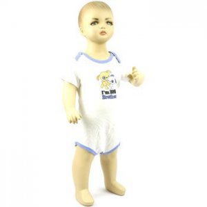 Baby Newborn Boy Puppy Dog White Blue 3pc Short Sleeve Set Layette Bodysuit 6-9