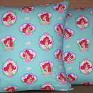 ~ SALE ~ 2 LITTLE MERMAID FABRIC THROW PILLOW COVERS