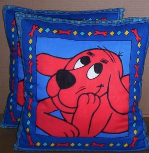 ~ SALE ~ 2 CLIFFORD FABRIC THROW PILLOW COVERS or WALL HANGING