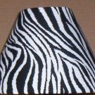ZEBRA STRIPES FABRIC LAMP SHADE lampshade SAFARI ANIMAL PRINT BLACK & WHITE  6459