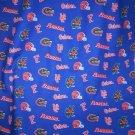 University of Florida Gators Blue College 4 Yards Cotton Fabric