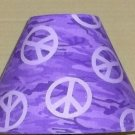Peace Sign  FABRIC Lampshade Lamp Shade Purple CAMO Camouflage 6459
